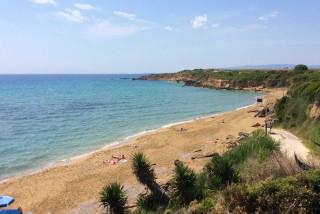 kefalonia baha ammes sandy beach